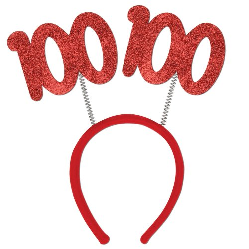 100 Glittered Boppers Party Accessory (1 count) (100 Glasses)