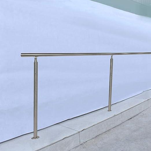 Pasamano de la Escalera 150 x 102,5cm Barandilla de Acero Inoxidable para Interior y Exterior Instalación Flexible(0 Barre trasversali): Amazon.es: Hogar
