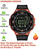 Upgraded T7 Electronic Fitness Tracker Digital Sports Bluetooth Smart Watch Waterproof Pedometer Remote Camera Call or Message Notification Reminder for iOS Android Smartwatch Men Waterproof (Orange)