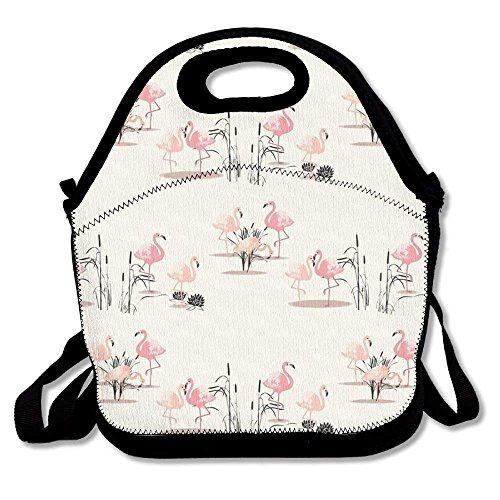 Flamingo Glam Lunch Tote Bag Bags Awesome Lunch Handbag Lunchbox Box For School Work Outdoor ()