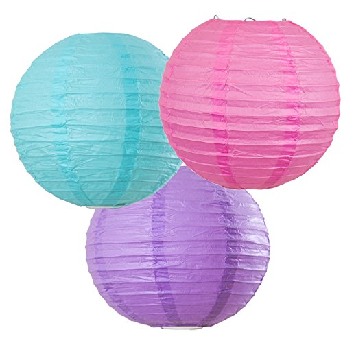 Making Paper Lanterns (Bobee Mermaid Party Decorations Paper Lanterns set of 3)