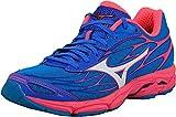 Mizuno Women's Wave Catalyst Running Shoe, Fuchsia Purple/Silver, 8 B US