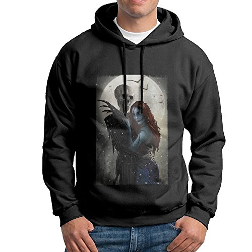 [Nightmare Before Christmas Pullover Hooded Adult Black Sweatshirt Hoodie] (Boogie Man Nightmare Before Christmas Costumes)