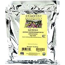 Starwest Botanicals Organic Ground Cayenne Pepper Powder 35K H.U., 1 Pound Bulk Spice