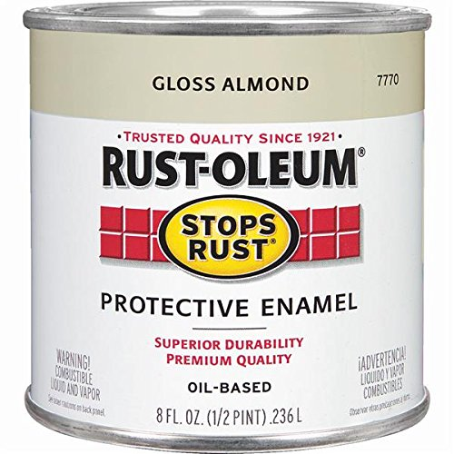 Rustoleum Stops Rust 7770 730 1/2 Pint Almond Protective Enamel Oil Base Paint by Rust-Oleum Corp/Zinsser