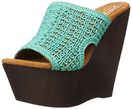 Sandalia Para Mujer Cuña Turquesa Tahiti Sbicca dFqBwOd
