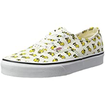 Vans Womens Peanuts Authentic Trainers, Yellow (Woodstock/Bone (Peanuts)),