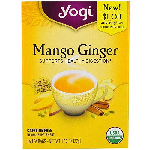 Yogi Tea, Mango Ginger, Caffeine Free , 16 Tea Bags, 1.12 oz
