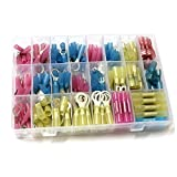 Fotag 250 PCS Insulated Heat Shrink Wire Assortment Crimp waterproof Terminals Marine Connector set Kit