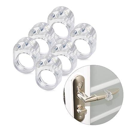 ATPWONZ 6pcs PVC Topes de Puerta Silicona Flexible Ideales para Proteger la Integridad de Paredes/