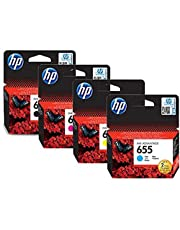 Hp 655 Ink Cartridges Set - Black, Cyan, Magenta & Yellow