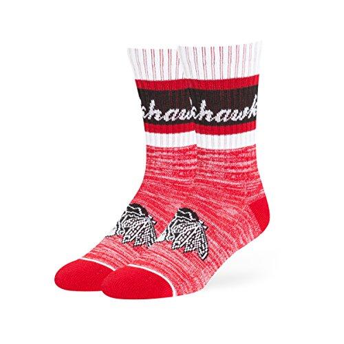 OTS NHL Chicago Blackhawks Women's Jensen Sport Sock, Red, Medium