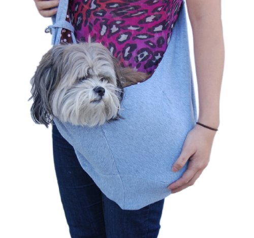 Anima Grey Cotton Sling Bag Carrier, 20-Inch by 11-Inch