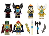 The Lego Chima Characters Removable Wall Stickers Decal 6 Piece Set Plus 4 Weapon Decals