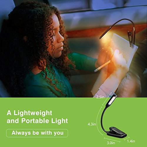 LED-Reading-Light-Atmoko-Rechargeable-Reading-Lamp-3-level-Brightness-Cool-and-Warm-and-Flexible-Easy-Clip-On-Book-Light-Eye-Protection-Brightness-Soft-Table-Light-for-Night-Reading-Kindle