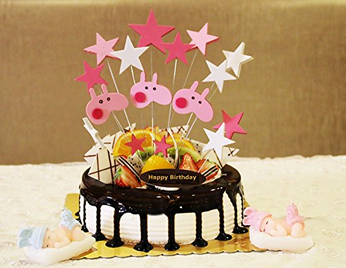Baby Doll Cake (Peppa Pig Theme Cake Toppers Birthday Cake Decoration)
