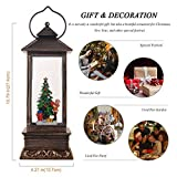 JEDAWN Christmas Decor Snow Globe Lantern with 8