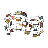 SEI Southern Enterprises Abstract Wall Art Deco, Gold Brushed Finish