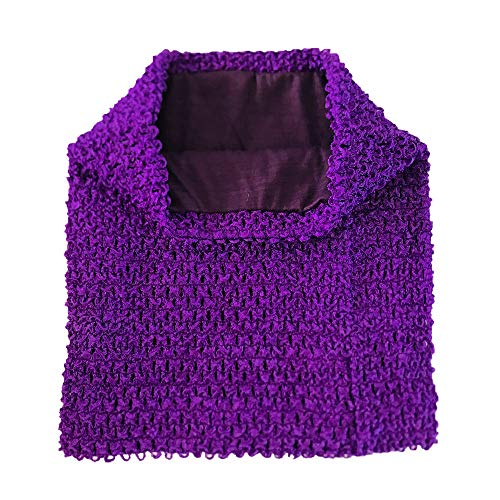 (NNBX 9 Inch Crochet Tutu Tube Top Chest Wrap for Babies Infants and Toddlers (Purple))