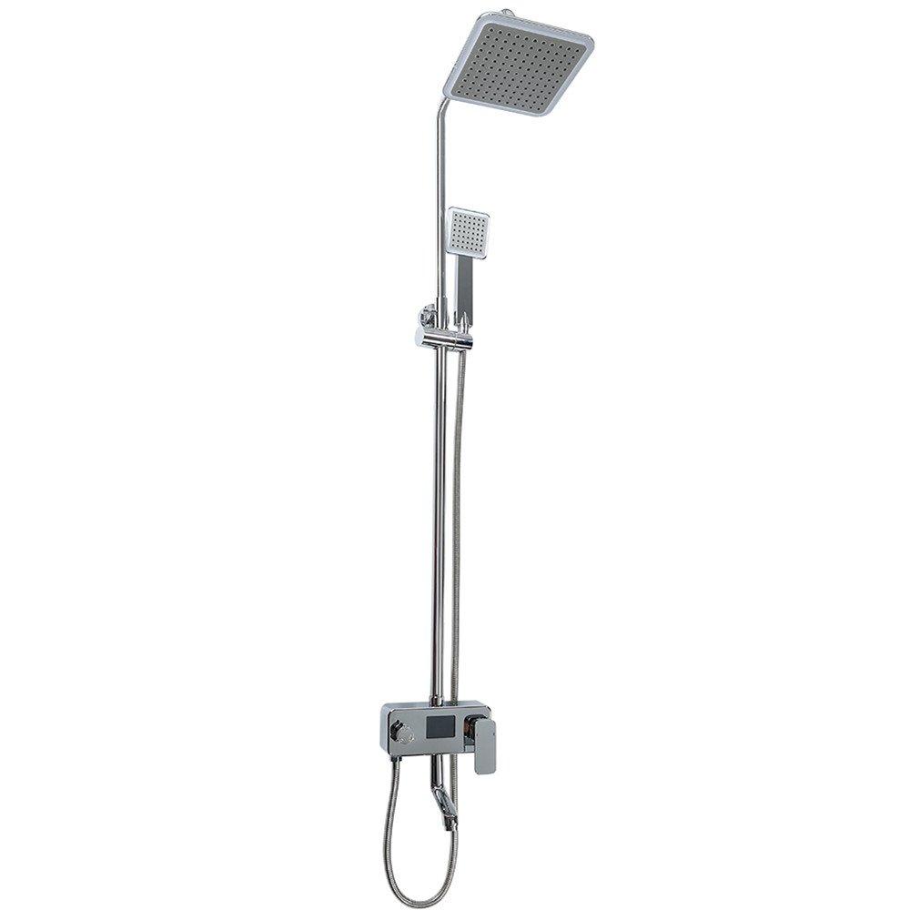 LED+LCD Flyelf Syst/ème de douche,Kit carr/é pour le robinet de Bath