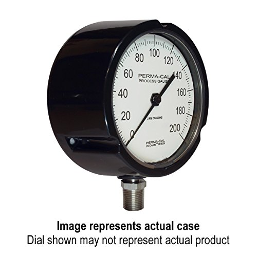 Pressure Gauge, Direct Drive Design, Process, 0-400 psi, 4.5