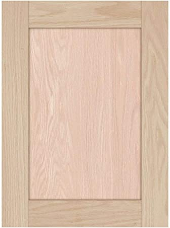 19H x 14W Unfinished Oak Square Flat Panel Cabinet Door by Kendor