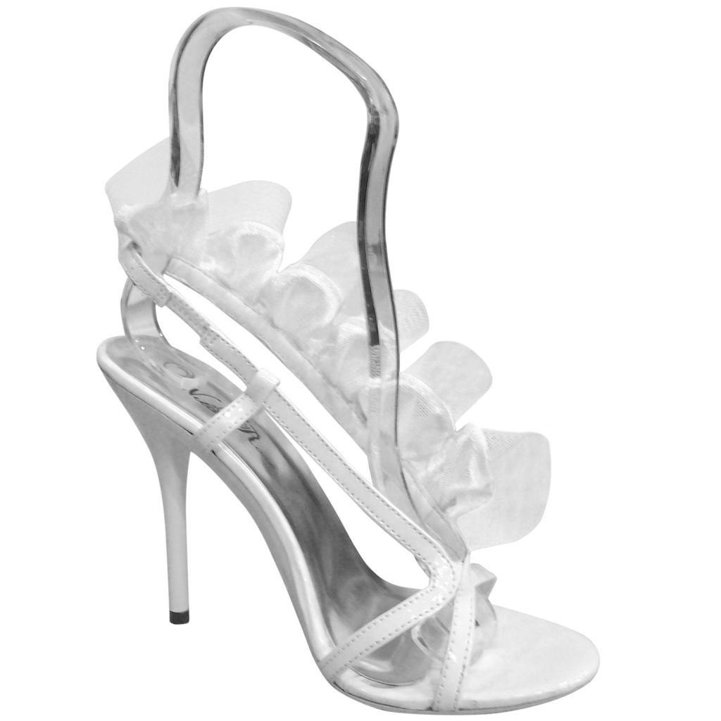 Wild Rose Womens Moxie40 High Heel Open Toe Sandals