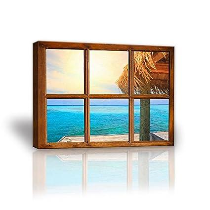 amazingwall marco Cottage Madera Ventana Vista playa mar amanecer ...