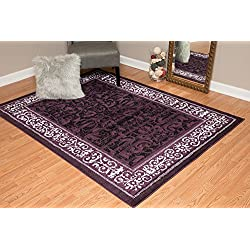 United Weavers of America Dallas Baroness Rug, 5 x 8', Plum