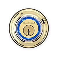 Kwikset Kevo 99250-201 Kevo 2nd Gen Bluetooth Touch-to-Open Smart Electronic Door Lock Deadbolt Featuring SmartKey Security, Polished Brass