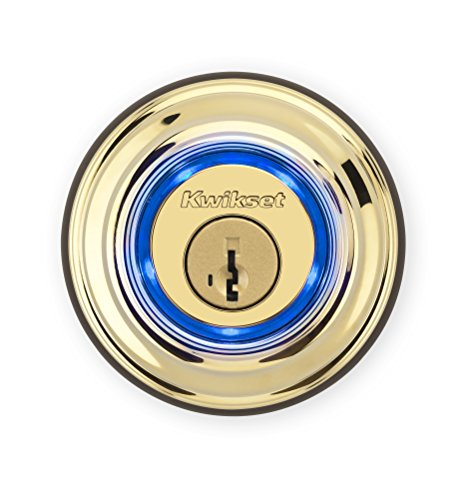 Kwikset Kevo Touch-to-Open Bluetooth Key and Electronic Smart Door Lock (2nd Gen) Polished brass 99250-201