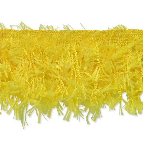 Expo International Hairy Gimp Fringe Trim, 10-Yard, Yellow