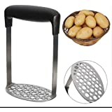 Smooth Potato Masher Stainless Steel Fruit Vegetables Masher with Handle by Melhope