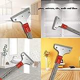 POLUTS Paint Scraper Long Heavy Duty Wallpaper Removal Tool 15 Inch Floor Scraper for Removing Floor Tile Wall Window Adhesive Residual Glue