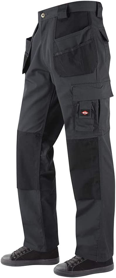 Size 40 Long Grey//Black Lee Cooper Workwear LCPNT216 Mens Multi /& Holster Pocket Kneepad Work Safety Cargo Pants Trousers