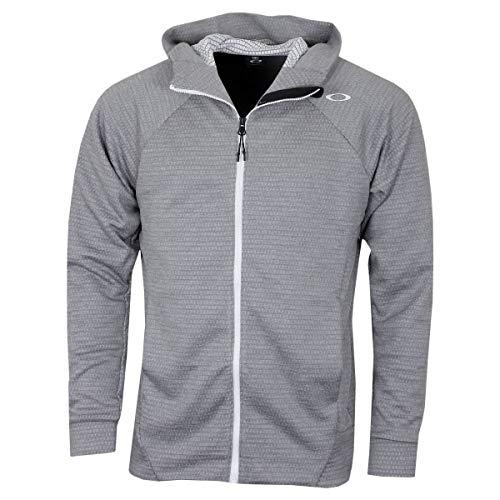 - Oakley Mens Men's Enhance Technical Fleece Jacket.Grid 9.0, Light Heather Grey, L