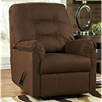 Ashley Furniture Signature Design - Harold Point Recliner - Pull Tab Manual Reclining Sofa - Cafe Brown