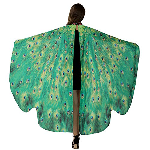 HITOP Butterfly Wings For Women, Butterfly Shawl Fairy Ladies Cape Nymph Pixie Costume -