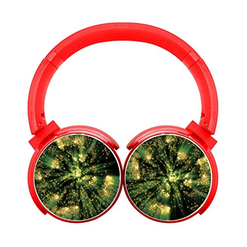 Secure Fit Bluetooth Over Ear Headphones Gaming Headset Noise Cancelling Earphone Dazzling Green Dot Red