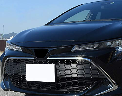 Alina-Shops - For Toyota Corolla Sport Hatchback Auris ABS Chrome Front Center Grille Grill Outer Cover Trim 2 Pieces Car Accessories