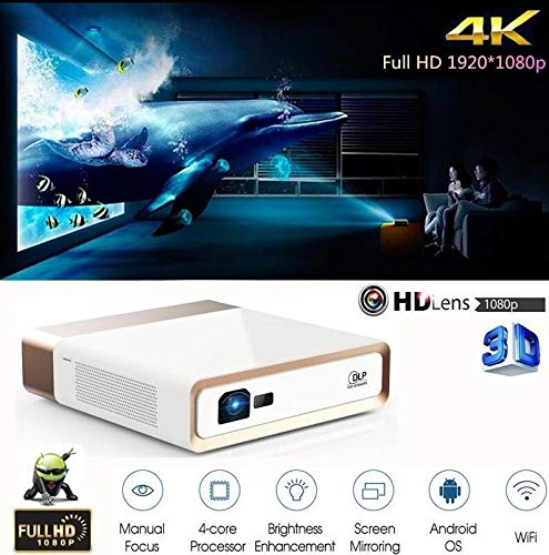 FidgetFidget 3D Theater Projector HDMI10000 Lumens 4K Full HD 1920x1080P Android Cinema WiFi