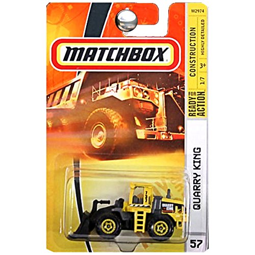 Matchbox Quarry King Yellow Dozer Earth Mover, #57, 2007, Highly Detailed Replica, 1/64.