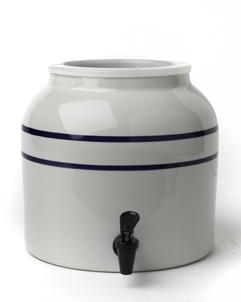 New Wave Enviro Products Blue Striped Porcelain Water Dispenser (Single), 2.5-Gallon