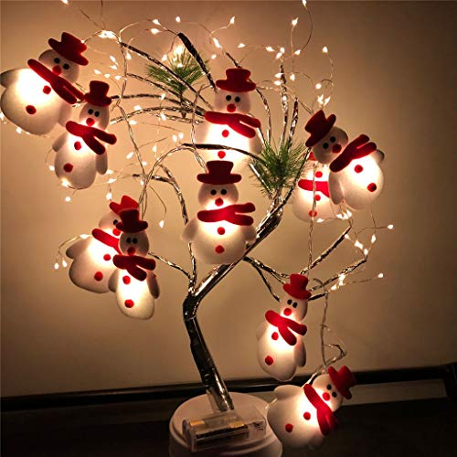 LED Christmas Snowman String Lights, 10 LEDs Colorful Cute String Lights for Christmas Decoration - Christmas Tree - Holiday Party Decoration Lantern (Snowman)