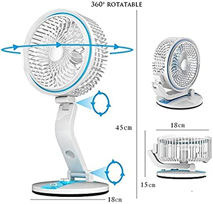 Ytaoo Ventilador de Pie Plegable Ventiladores Pared USB/Panel ...