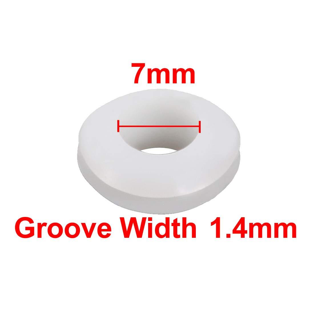 35Stk.Doppelseite Gummidurchführung Öse Ringdichtung Weiß 8mm Innendurchmesser