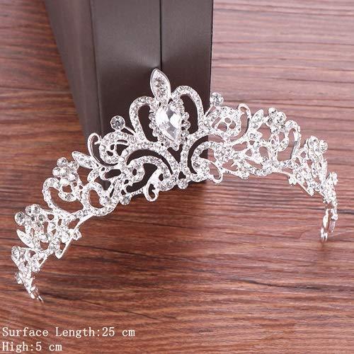 Crystal Tiara Crown Hair Accessories Wedding Tiara Bridal Crown Women Head Piece Hair Jewelry Princess Crown Headdress Diadem Silver13
