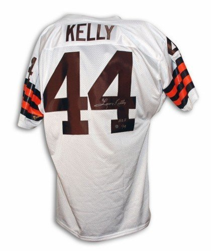 Leroy Kelly Cleveland Browns Autographed White Throwback Jersey Inscribed HOF 94 - Certified Authentic Signature - Cleveland Browns Throwback White Jersey