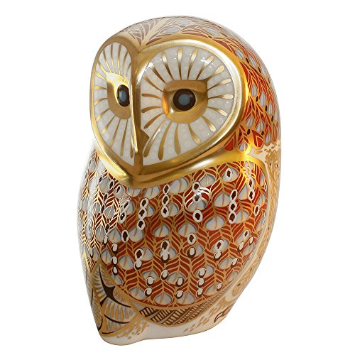 "Royal Crown Derby, Barn Owl Paperweight, 4.5"" Tall, Bone China, Made in Great Britain. Brand New. 1st Quality."