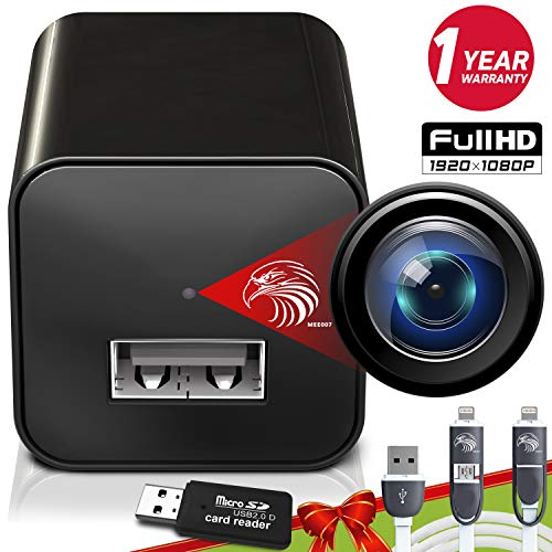 Spy Camera Charger | Hidden Camera | Premium Pack | Mini Spy Camera 1080p | USB Charger Camera | Hidden Spy Camera | Hidden Nanny Cam | Hidden Spy Cam | Hidden Cam | Surveillance Camera Full HD (Best Mini Spy Camera 2019)